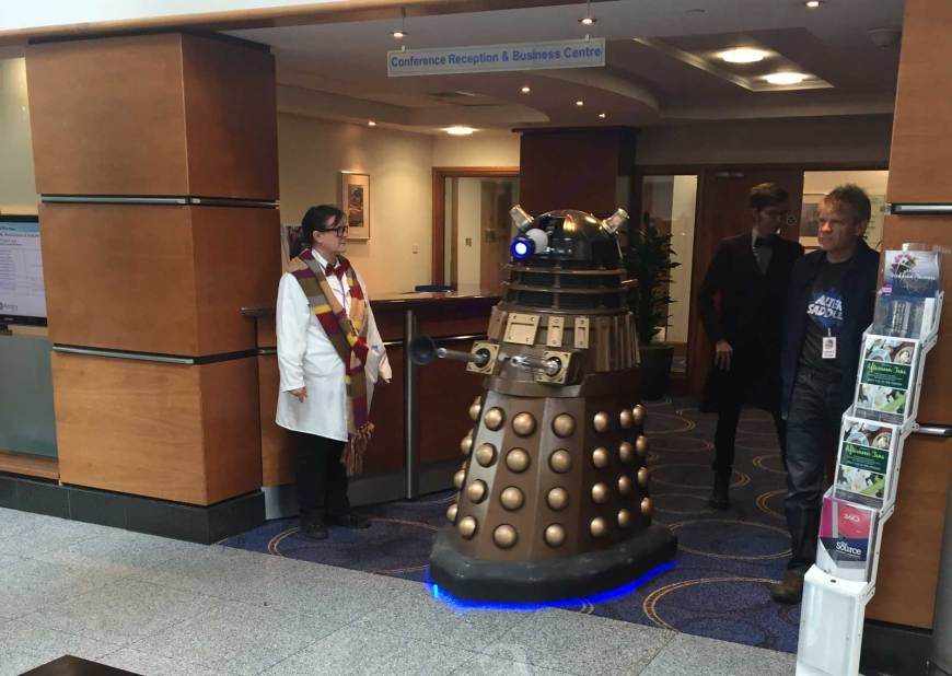 A Dalek on patrol during Capitol IV