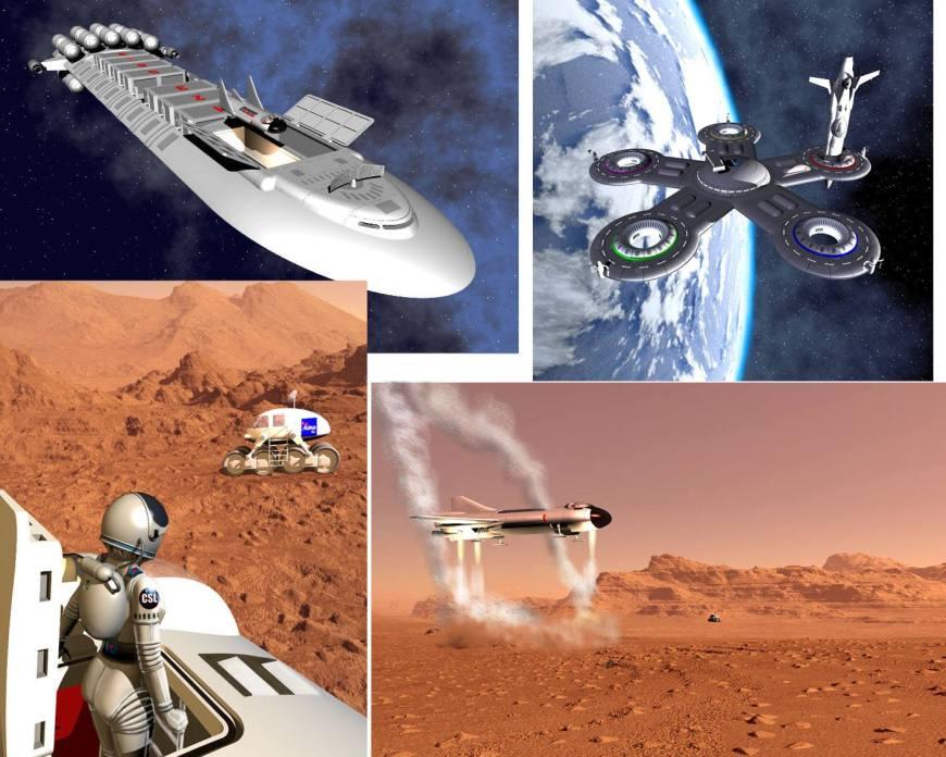 "John Ridgway's ship designs for the sadly abandoned Dan Dare tale ""Return to Terra Nova"""