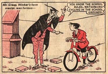 The original Winker Watson, as seen in Dandy Issue 2222, published in June 1984...