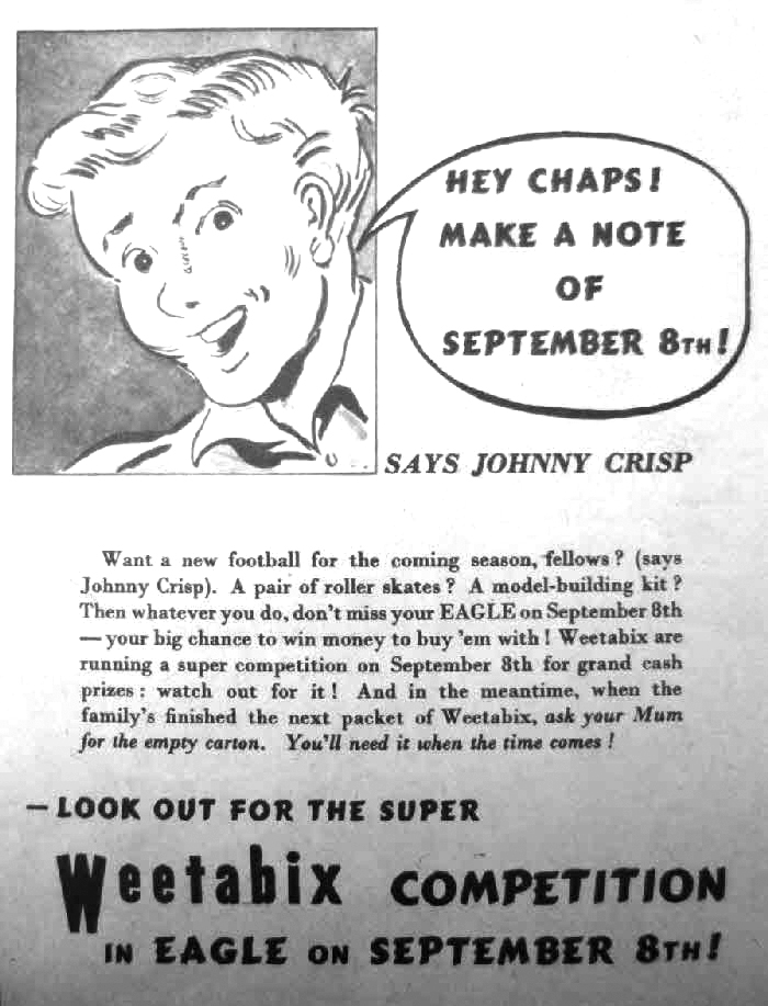 Eagle - Weetabix Competition Promotion 1950