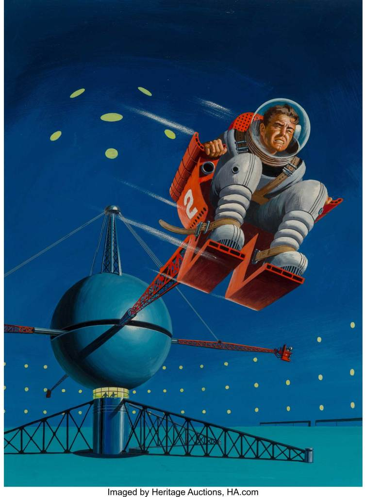 Ed Valigursky - Orbit Science Fiction no. 5 cover, November/ December 1954