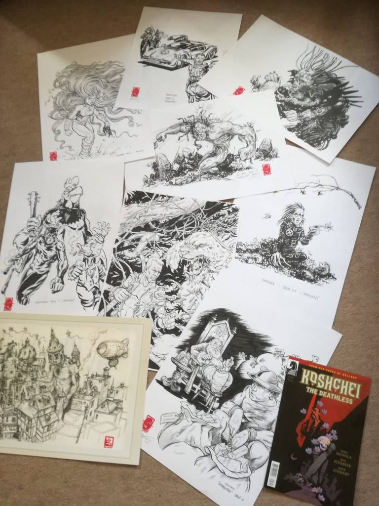 Artwork donated by Gareth Sleightholme for the Awesome Comics Podcast charity project organised by Richard Sheaf for Free Comic Book Day 2019