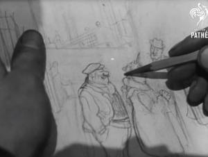WebFind: The Legendary Daily Express cartoonist Giles at work – in 1945