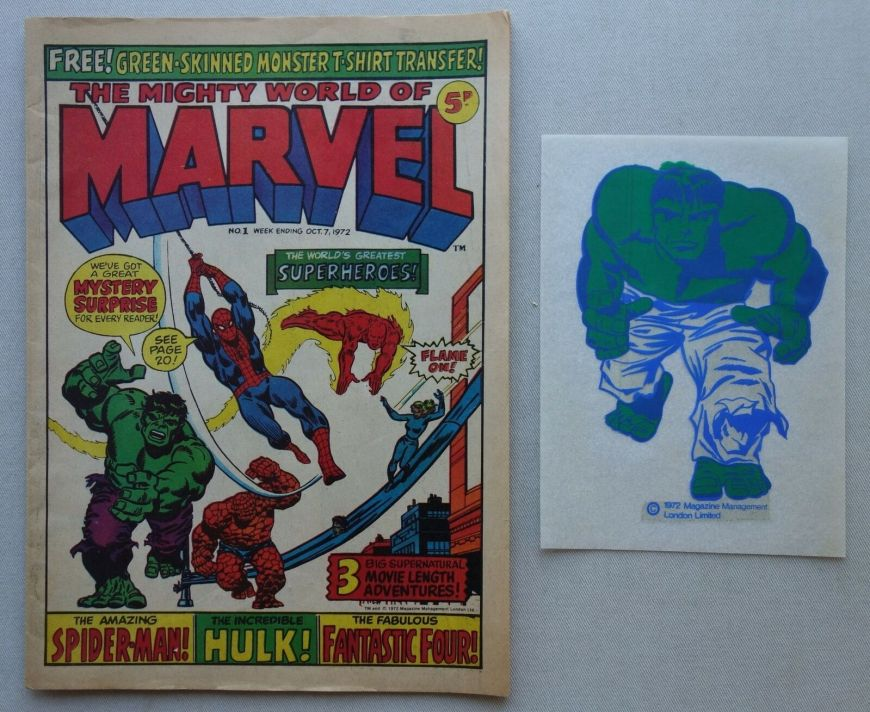 Mighty World of Marvel #1 -1973 -With Free Gift