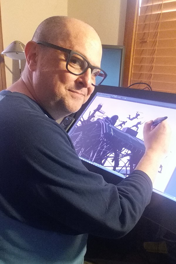 US comic artist Michael Lark