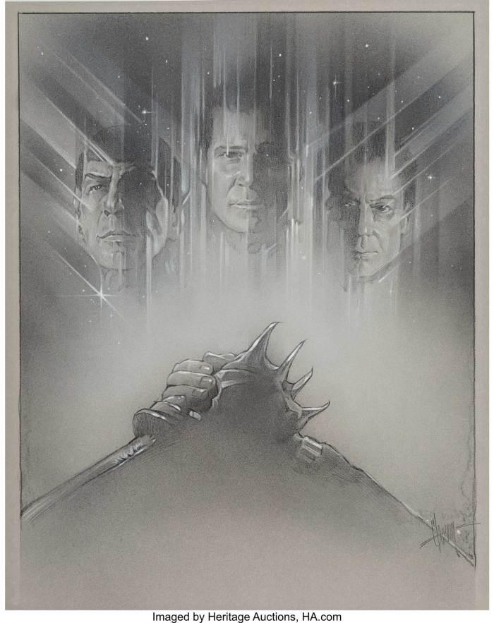 Steven Chorney - Star Trek VI: The Undiscovered Country, poster study, 1991
