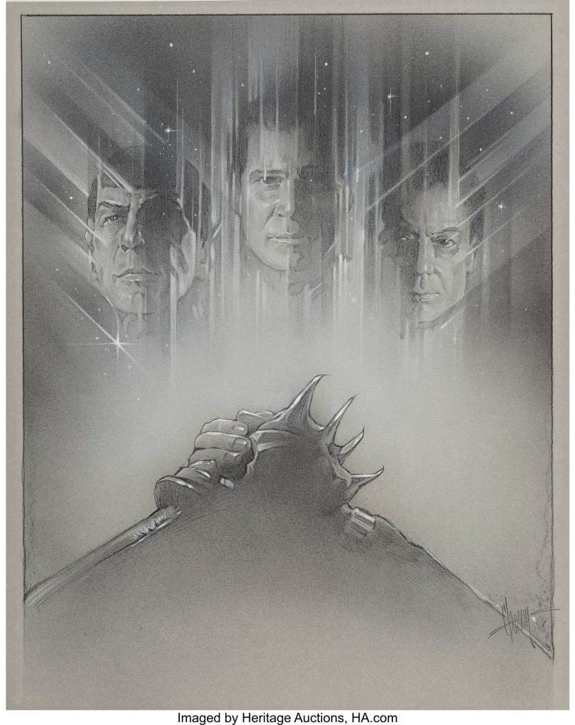 Steven Chorney - Star Trek VI: The Undiscovered Country, poster study, 1991