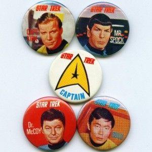 Sugar Smacks Star Trek Badges