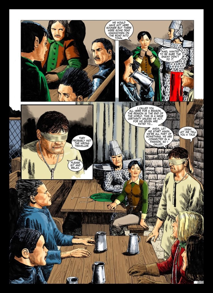 The last page of book 5 of Age of Heroes. James Hudnall had just started to write the next book in the series.