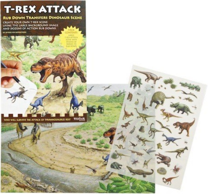 "Westair Reproductions ""Dinosaur Attack"" Rub-Down Transfers"