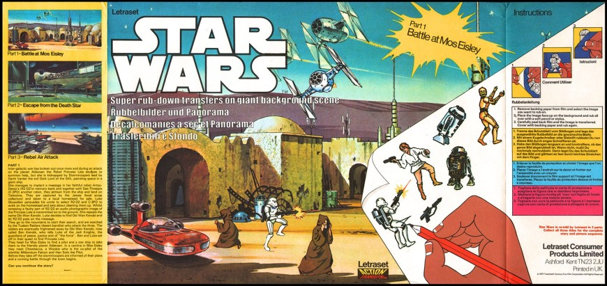 Letraset Action Transfers: Star Wars - Battle at Mos Eisley