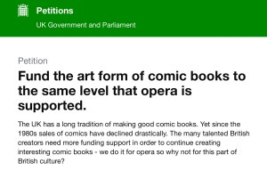 2019 Fund the Art Form of Comics Petition