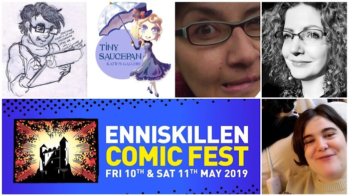Also at Enniskillen ComicFest this year: Una Gallagher, Katie'O'Kane, Nika Nartova, Maura McHugh, Pau Vassilev and Anthea West