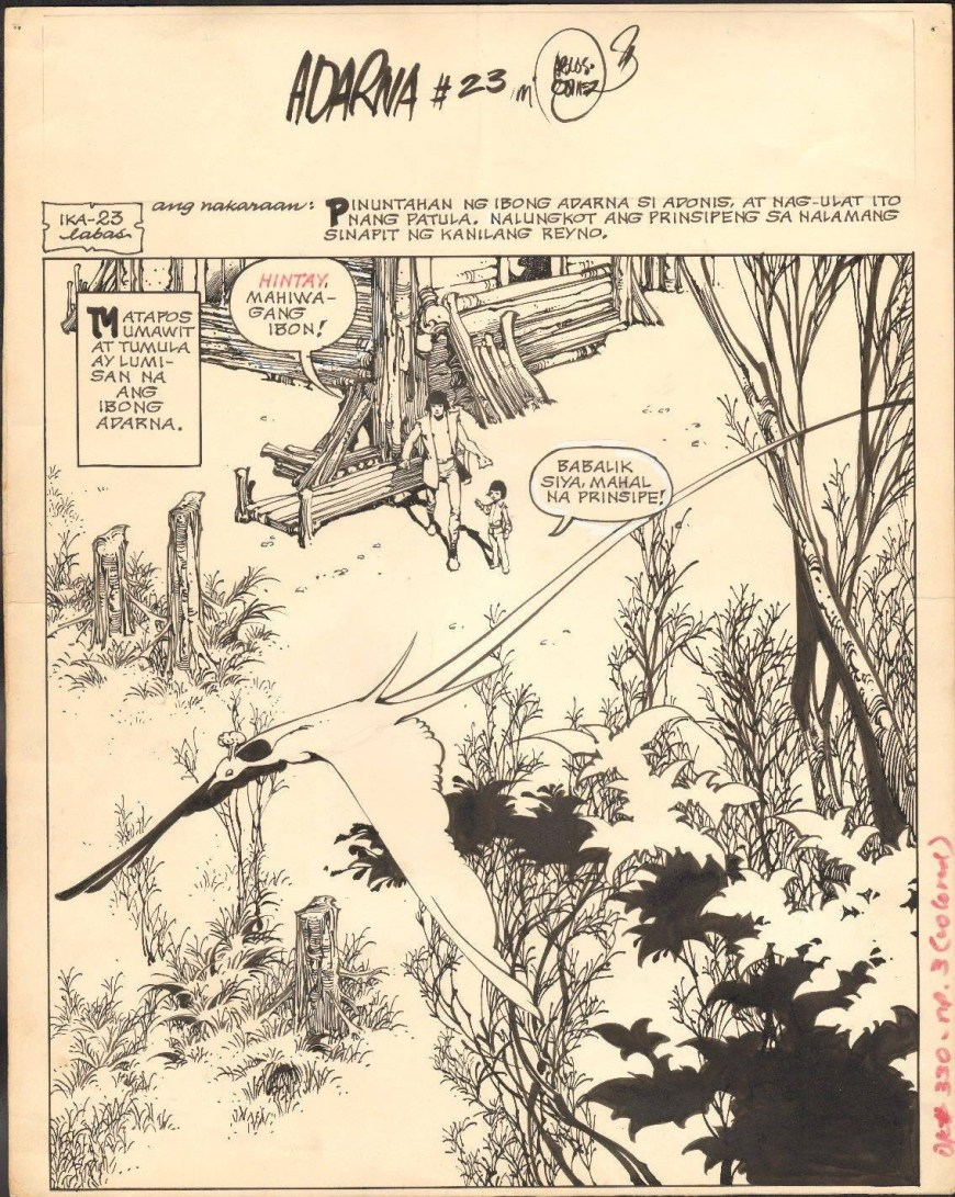 Adarna - 1970s strip published in the Philippines, art by Alex Nino