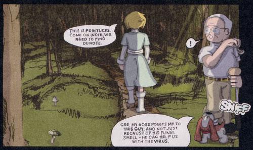 Interior art from the Strange New Worlds comic by Lyall Bruce aka Sooper DD