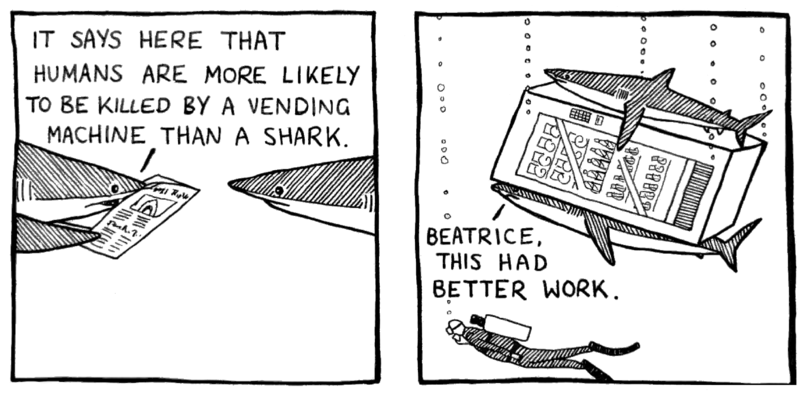 The Life of Sharks by Christian Talbot and artist Sophie Hodge