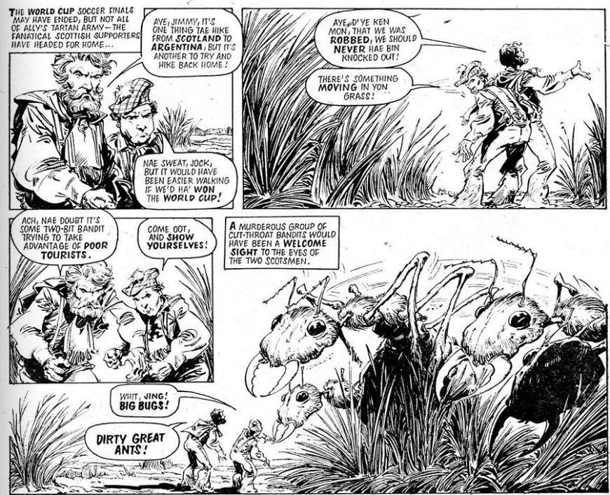 "A page from ""Ant Wars"", published in 2000AD Prog 80 © Rebellion Publishing Ltd"