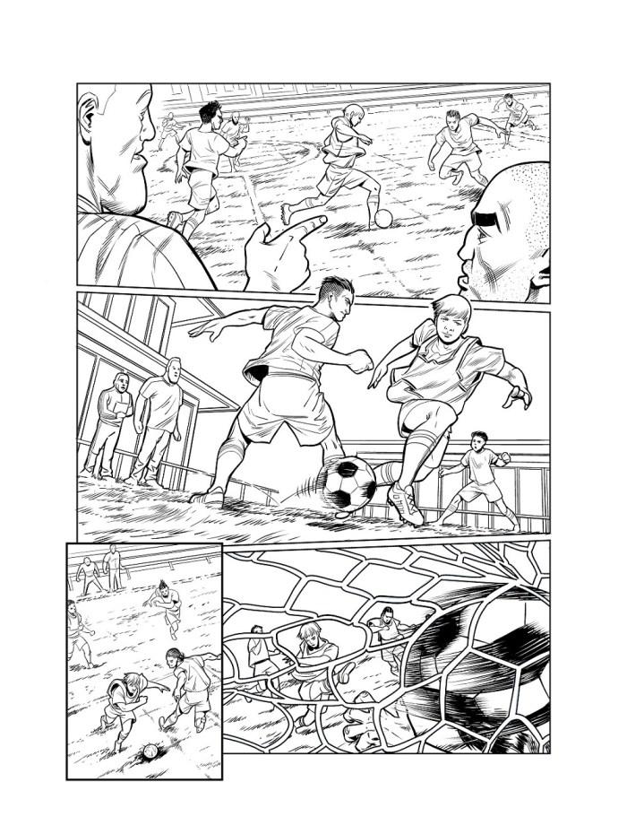 Wannabe Warriors- Striker - art by Luis Guranga