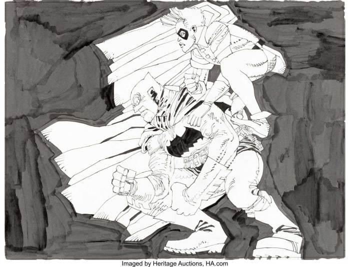 Frank Miller - Batman The Dark Knight Returns Inspired Unpublished Illustration