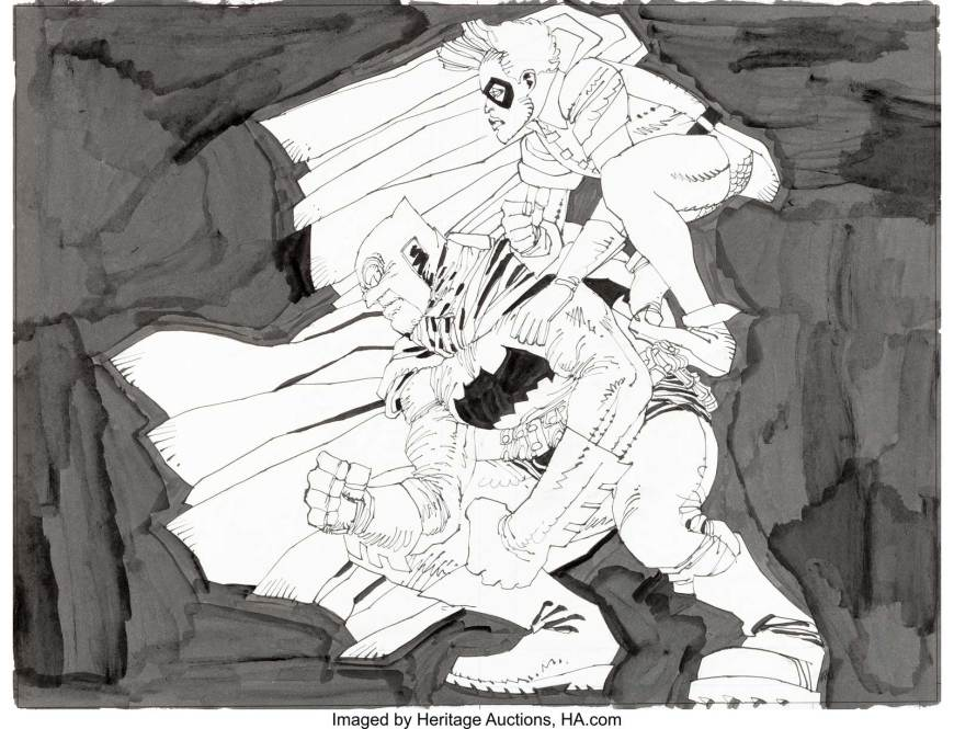 Frank Miller - Batman The Dark Knight Returns Inspired Unpublished Illustration