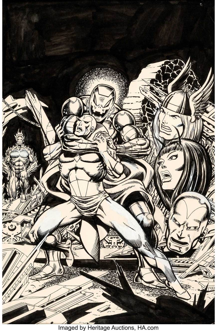 Jim Starlin Avengers #135 Cover