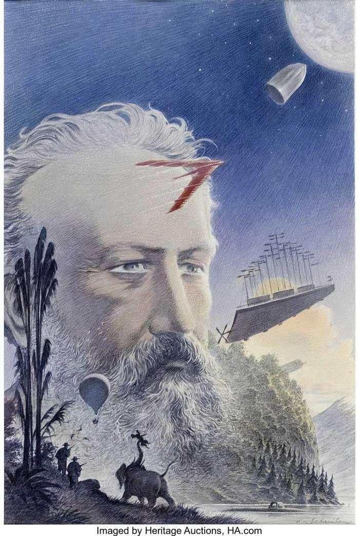François Schuiten Jules Verne Illustration art (2003)