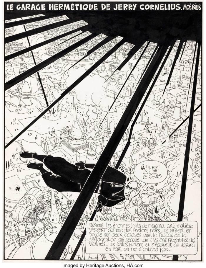 Moebius Le Garage Hermétique de Jerry Cornelius Page 125 (Métal Hurlant, 1976-1978)