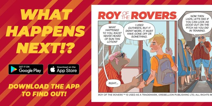 Roy of the Rovers App Screen