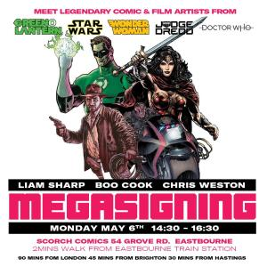 Scorch Comics - 2019 Meg Signing
