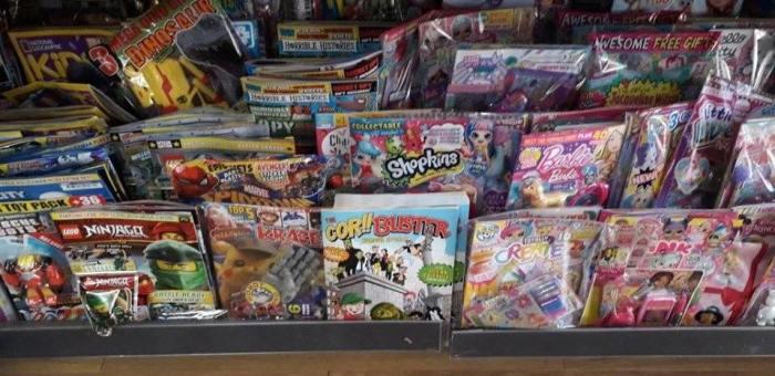 Comics shelves at WHSmith St Annes - Photo: Mark Hetherington