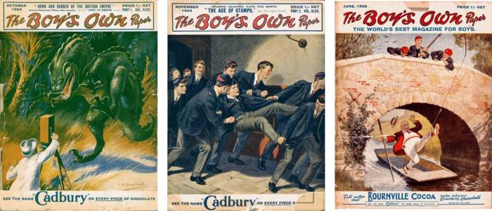 Covers of Boy's Own Paper from the 1920s, via the British Juvenile Story Papers and Pocket Libraries Index