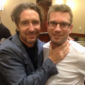 Jeremy Bement (right) and some random fan of Panel to Panel