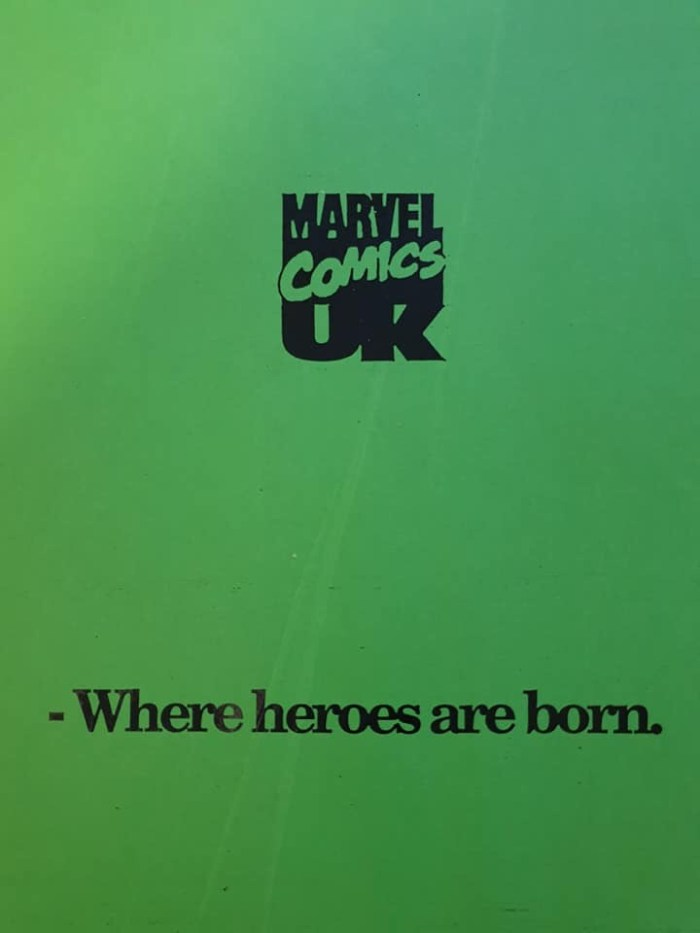 United Kingdom Comic Art Convention Marvel UK Booklet