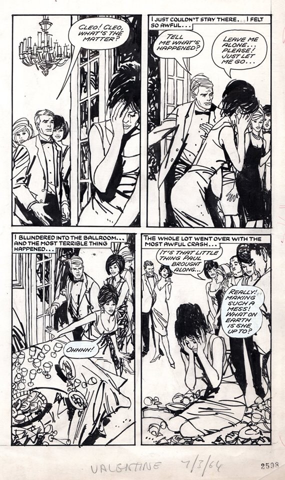 Art from the British title Valentine by Jordi Longarón, published in the 1960s