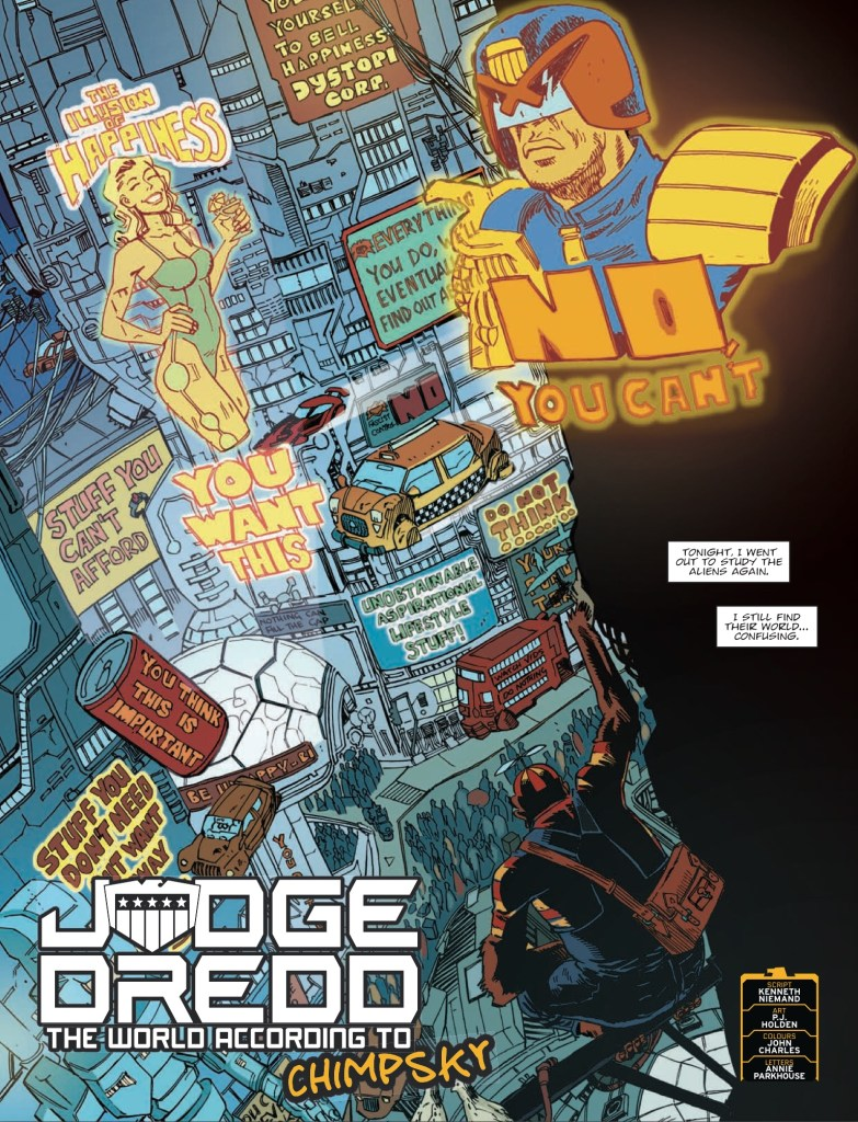 2000AD 20131 - Judge Dredd » The world according to Chimpsky