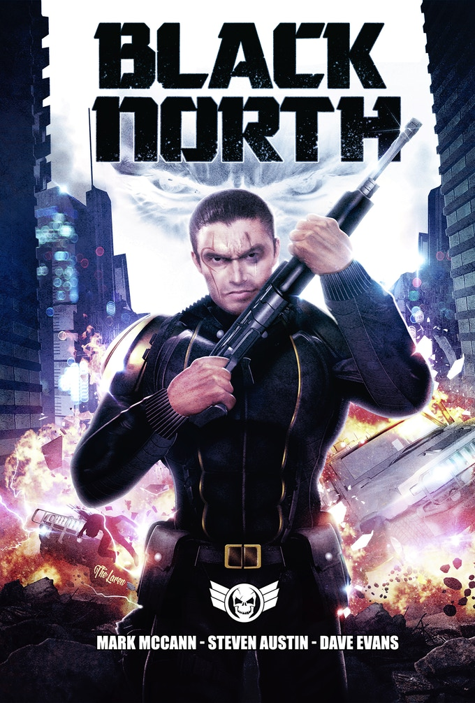 Black North cover by Hal Laren, logo by Marc Savage