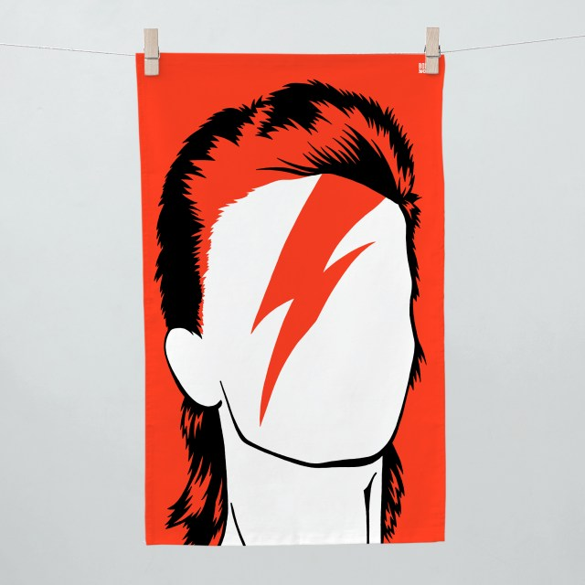 Bold & Noble - David Bowie Tea Towel. Photo: National Theatre