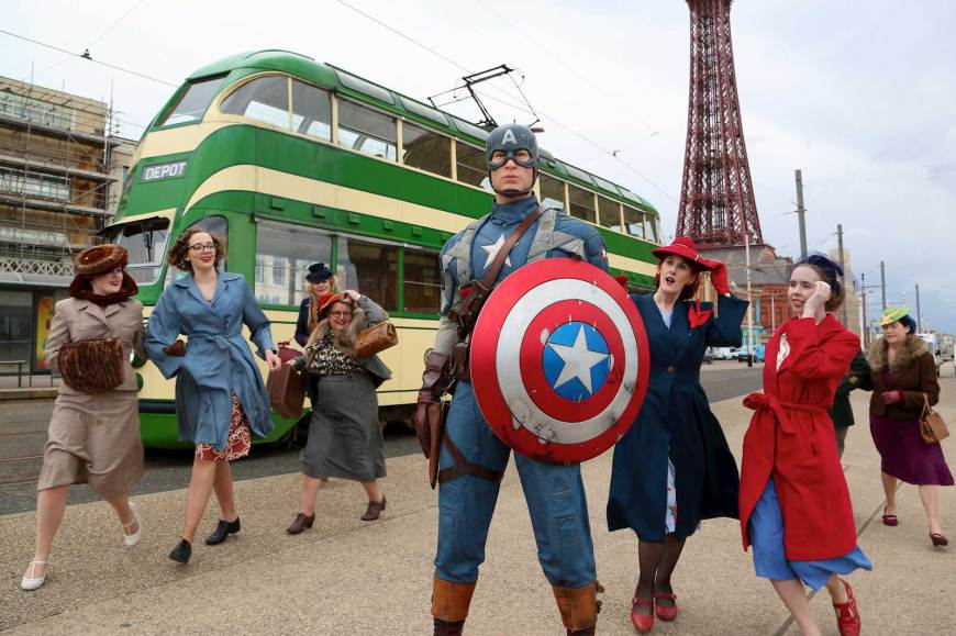 Captain America de-iced on Blackpool seafront, thanks to Madame Tussauds