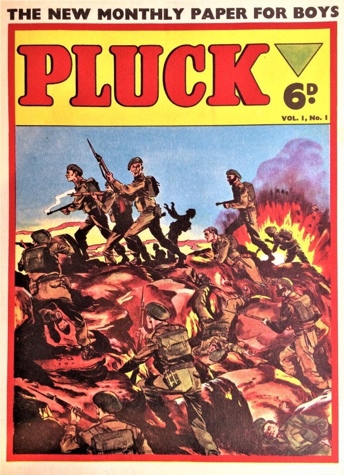 Pluck #1 - 1956 - cover believed to be by Mick Anglo