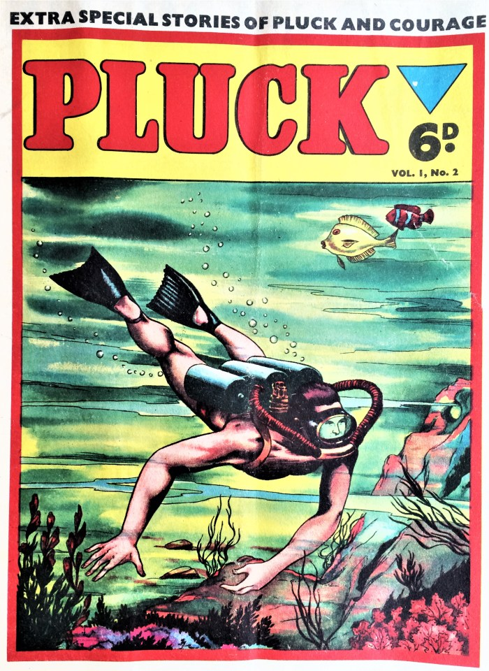 Pluck #2 - 1956 - cover believed to be by Mick Anglo