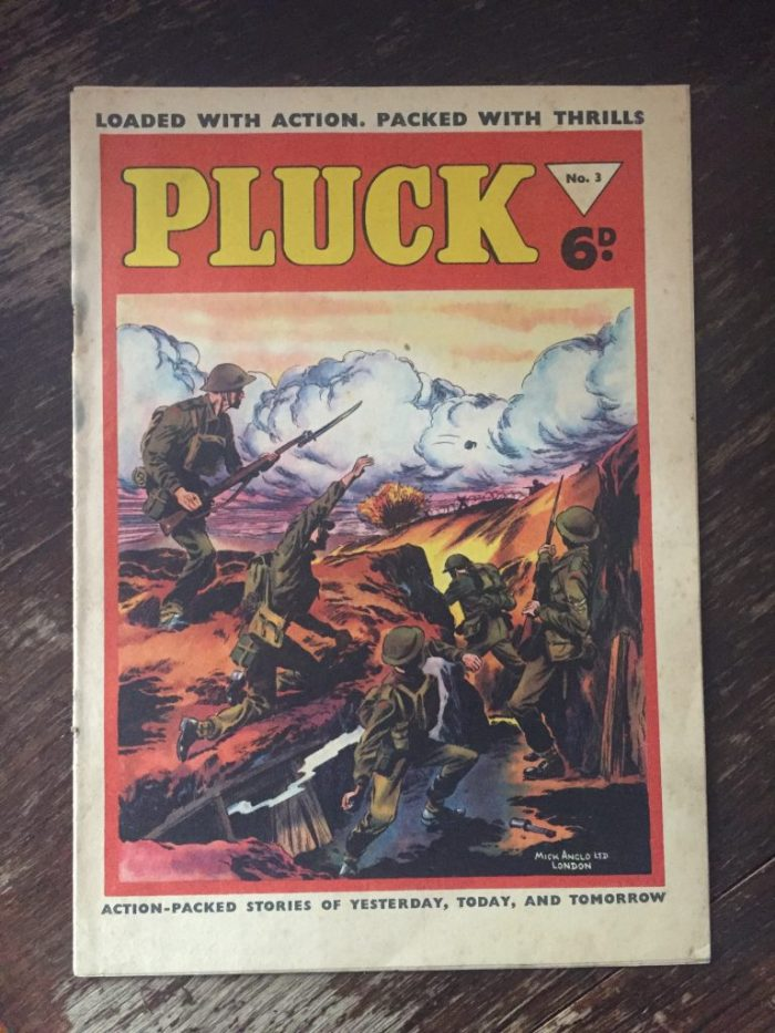 Pluck #3 - 1956 - cover believed to be by Mick Anglo
