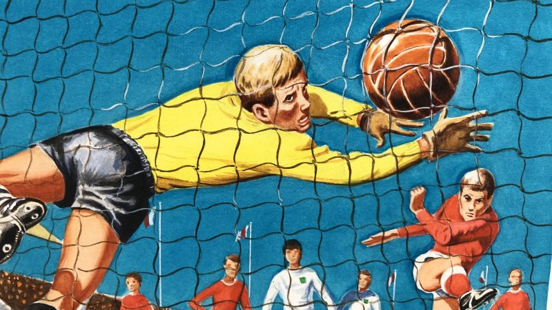 """""""Penalty"""" Football Card Game box art by John Armstrong on eBay"""