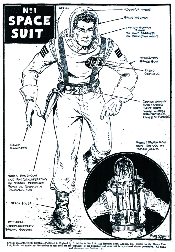 Space Commander Kerry - Spacesuit Design by Mick Anglo