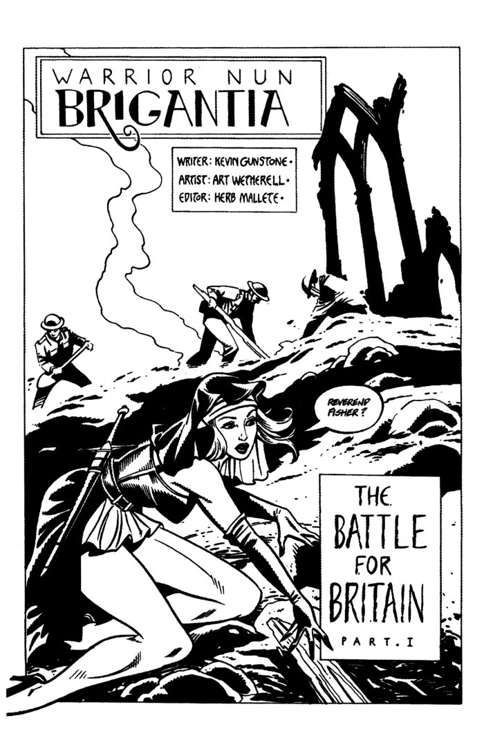 Warrior Nun Brigantia, written by Kevin Gunstone, art by Art Wetherell