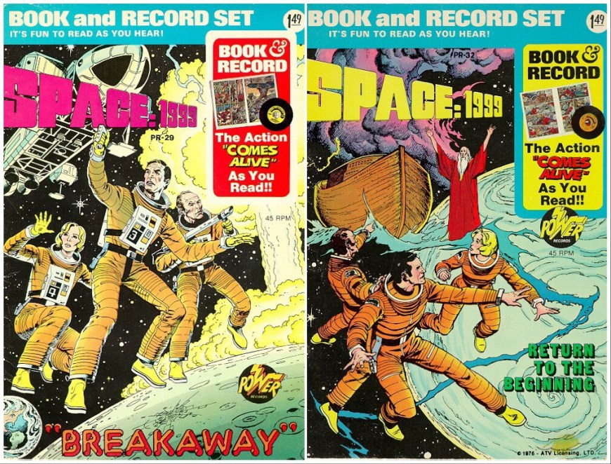 Space: 1999 Book and Record Set Montage - Power Records, 1976