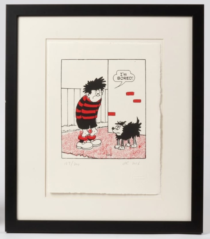 Dennis the Menace is Bored Screenprint by John Patrick Reynolds