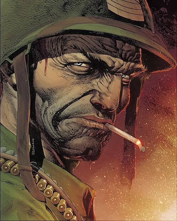 Sgt. Rock by Brian Bolland, coloured by Marco Lesko