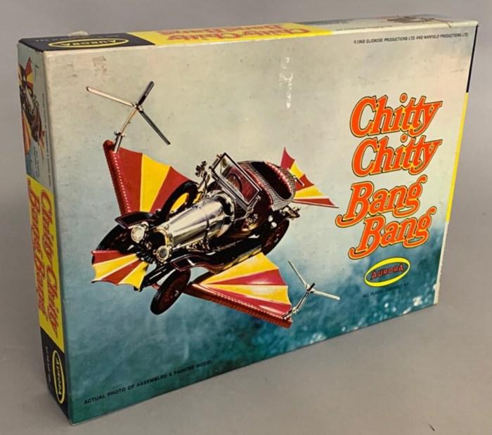 AURORA Chitty Chitty Bang Bang plastic model kit, Copyright Glidrose Productions Ltd. 1968