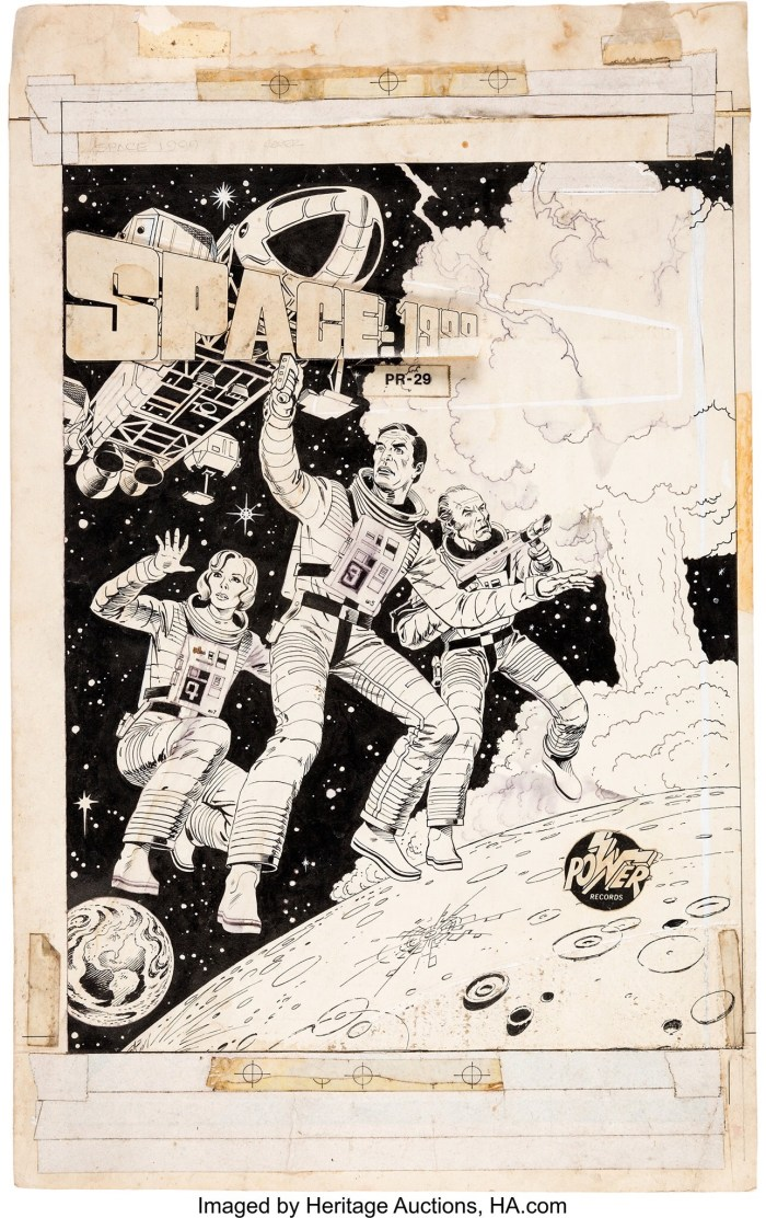 Neal Adams and Dick Giordano Space: 1999 #PR-29 Cover Original Art and Book and Record Set (Peter Pan Industries/Power Records, 1976)