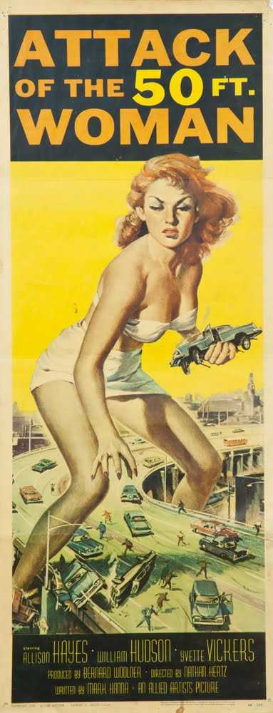 Attack of the 50 Foot Woman, 1958, United States Release    Jailhouse Rock, 1957, United States Release    Singin' in the Rain, 1952,  United States Release    Barbarella, 1968, United Kingdom Release